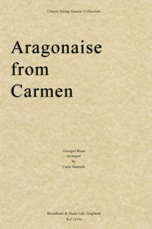 Bizet - Aragonaise from Carmen (String Quartet Score)