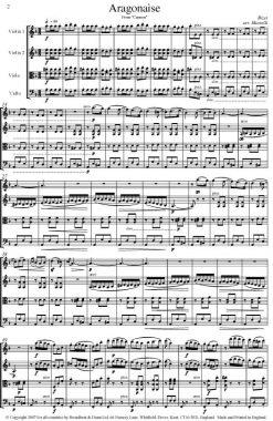 Bizet - Aragonaise from Carmen (String Quartet Parts) - Parts Digital Download