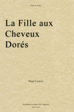 Paul Lewis - La Fille aux Cheveux Dorés (Flute & Piano)