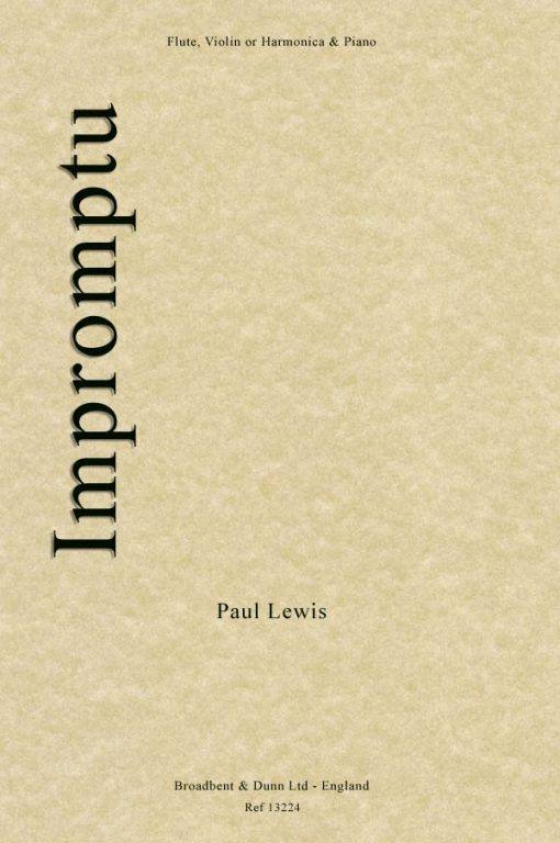 Paul Lewis - Impromptu (Flute