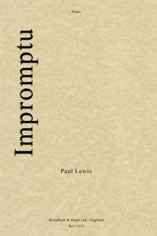 Paul Lewis - Impromptu (Piano)