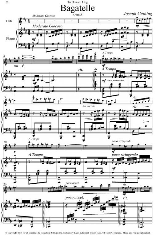 Joseph Gething - Themes For Flute Book 3 (Flute & Piano) - Digital Download