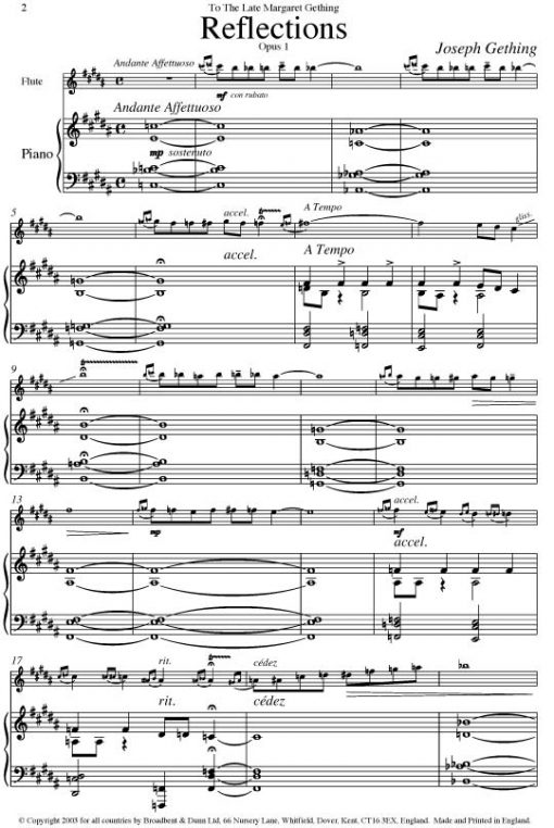 Joseph Gething - Themes For Flute Book 4 (Flute & Piano) - Digital Download