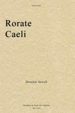 Dominic Sewell - Rorate Caeli (Violin Duet)