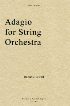 Dominic Sewell - Adagio for String Orchestra (Score)