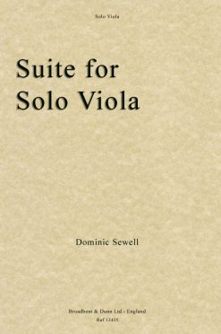 Dominic Sewell - Suite for Solo Viola
