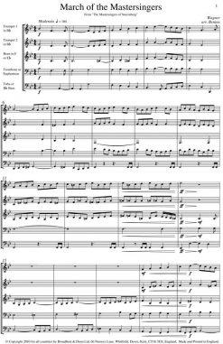 Wagner - March of The Mastersingers of Nuremberg (Brass Quintet) - Score Digital Download