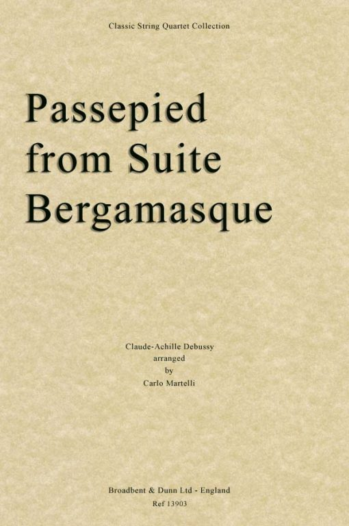 Debussy - Passepied from Suite Bergamasque (String Quartet Score)