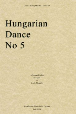 Brahms - Hungarian Dance No. 5 (String Quartet Score)