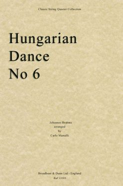 Brahms - Hungarian Dance No. 6 (String Quartet Score)