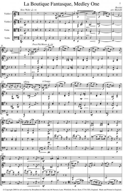 Rossini - La Boutique Fantasque Medley One (String Quartet Score) - Score Digital Download