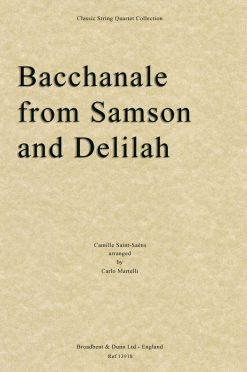 Saint-Saëns - Bacchanale from Samson and Delilah (String Quartet Score)