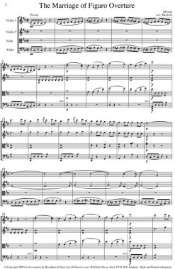 Mozart - The Marriage of Figaro Overture (String Quartet Score) - Score Digital Download