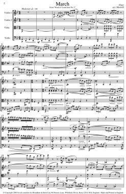 Elgar - March from Wand of Youth Suite No. 2 (String Quartet Score) - Score Digital Download