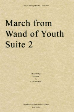Elgar - March from Wand of Youth Suite No. 2 (String Quartet Score)