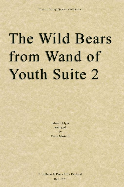 Elgar - The Wild Bears from Wand of Youth Suite No. 2 (String Quartet Score)