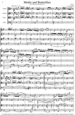 Elgar - Moths and Butterflies from Wand of Youth Suite No. 2 (String Quartet Score) - Score Digital Download
