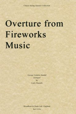 Handel - Overture from Music for the Royal Fireworks (String Quartet Score)