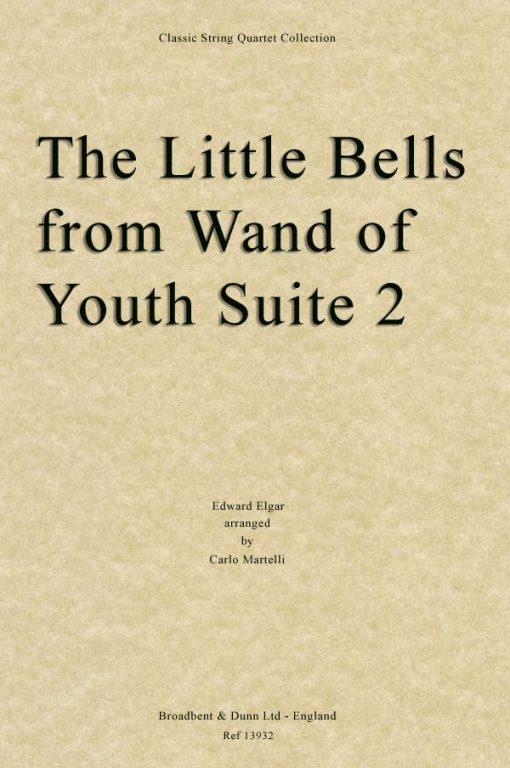 Elgar - The Little Bells from Wand of Youth Suite No. 2 (String Quartet Score)