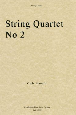 Carlo Martelli - String Quartet No. 2