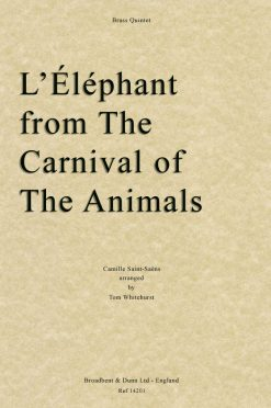 Saint-Saëns - L'Éléphant from The Carnival of the Animals (Brass Quintet)