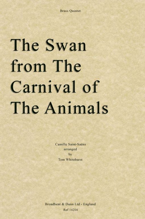 Saint-Saëns - The Swan from The Carnival of the Animals (Brass Quintet)