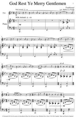 Traditional - God Rest Ye Merry Gentlemen (Flute & Piano) - Digital Download