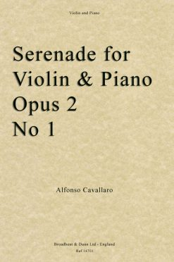 Alfonso Cavallaro - Serenade for Violin and Piano Opus Posth. 2 No 1