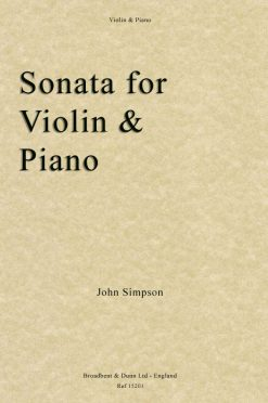 John Simpson - Sonata for Violin and Piano