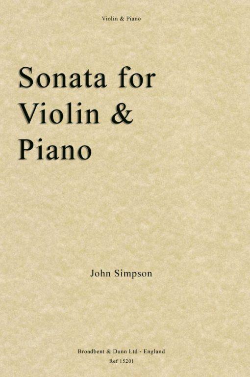 John Simpson - Sonata for Violin and Piano